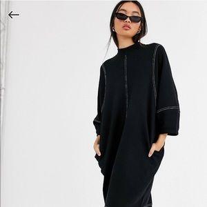 Monki for ASOS Oversized Midi Dress w/ Crew Neck